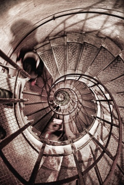 Spiral Staircase in the Arc De Triomphe. Paris, France