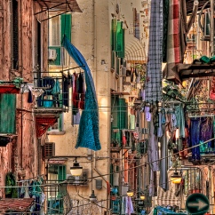 Laundry Day in Naples, Italy